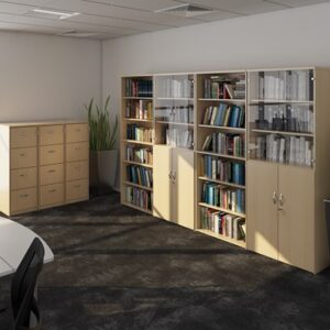 Wooden Office Cupboards