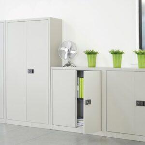 Metal cupboards