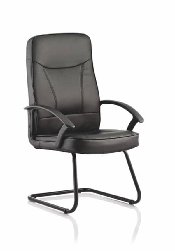 Blitz-Cantilever-Black-Chair-Black-Bonded-Leather-With-Arms