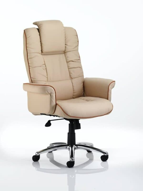 Chelsea-Executive-Chair-Cream-Bonded-Leather-With-Arms