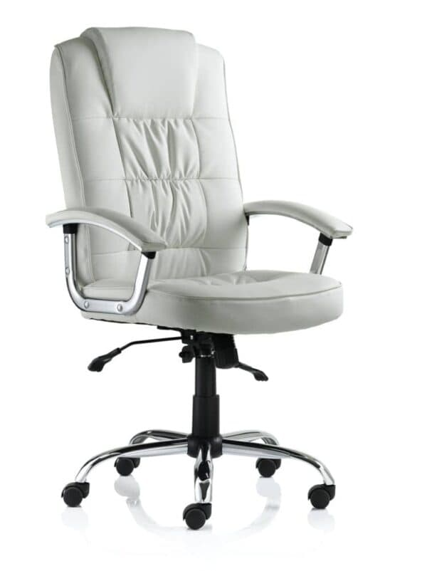 Moore-Deluxe-Executive-Chair-White-Leather-With-Arms