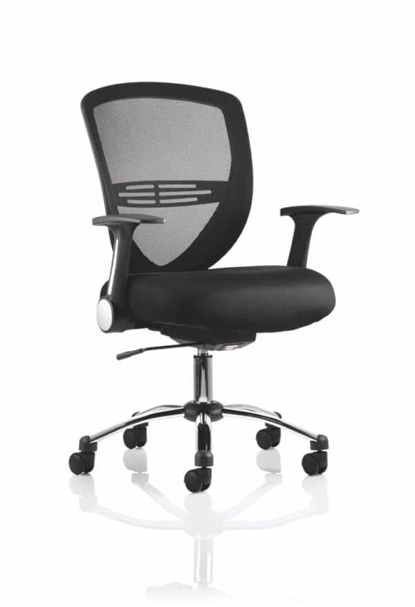 Iris-Task-Operator-Chair-Black-Fabric-With-Arms