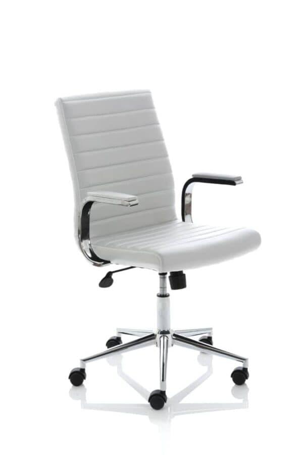 Ezra-Executive-White-Leather-Chair