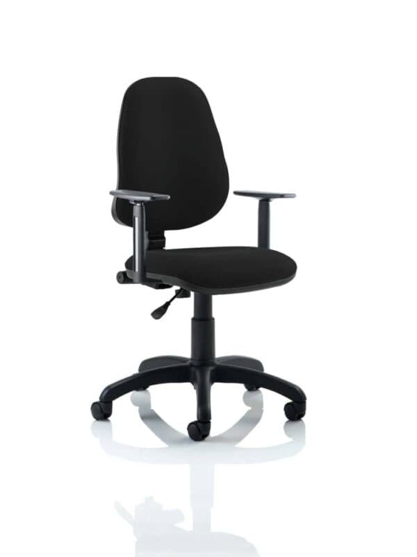 Eclipse-I-Lever-Task-Operator-Chair-Black-With-Height-Adjustable-Arms