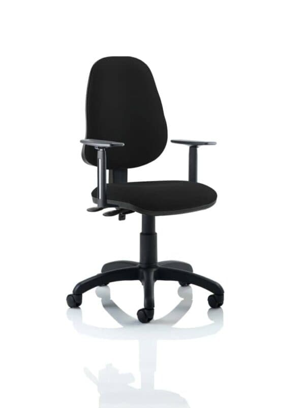 Eclipse-Ii-Lever-Task-Operator-Chair-Black-With-Height-Adjustable-Arms