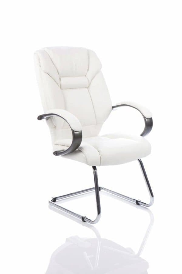 Galloway-Cantilever-Chair-White-Leather-With-Arms