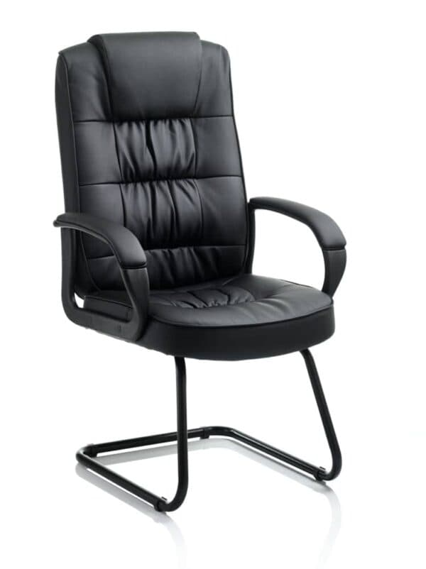Moore-Visitor-Cantilever-Black-Leather-With-Arms