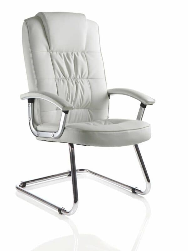 Moore-Deluxe-Visitor-Cantilever-Chair-White-Leather-With-Arms