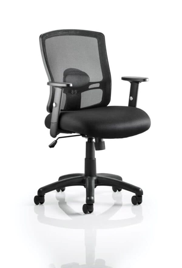 Portland-Task-Operator-Chair-Black-Mesh-With-Arms