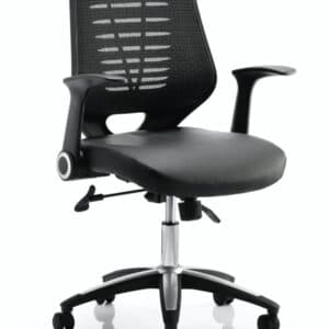 relay-task-operator-chair-leather-seat-black-back-with-arms