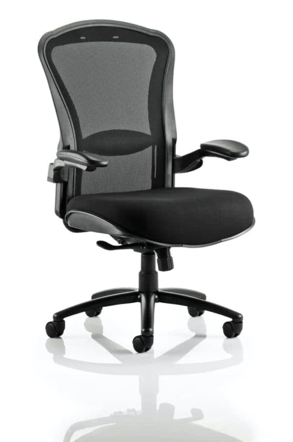 Houston-Heavy-Duty-Task-Operator-Chair-Mesh-Back-Black-Fabric-Seat-With-Arms