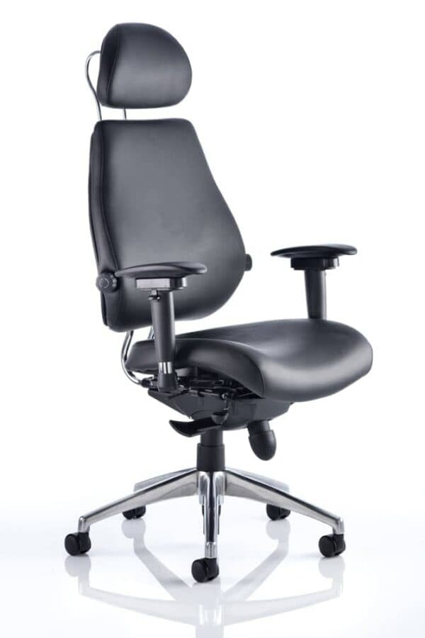 Chiro-Plus-Ultimate-Black-Leather-With-Arms-With-Headrest
